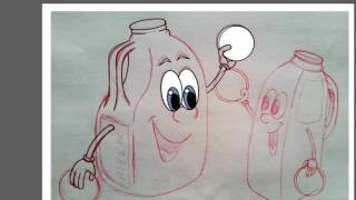 How to draw: EcoClub Milk bottle recycling :: Part 1