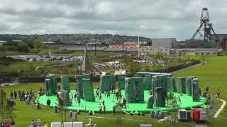 Giant Bouncy Castle - Stonehenge Sacrilege at The Heartlands Cornwall