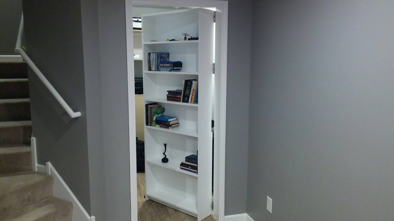 & Secret door room. Bookcase - door. Safe. Gun storage - YouTube