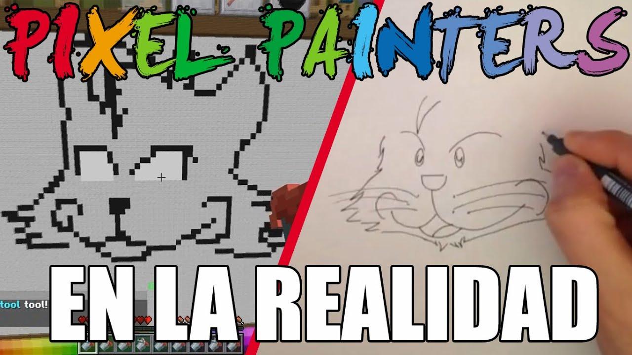 PIXEL PAINTERS EN LA REALIDAD : El Gato | Hypixel - Minecraft |