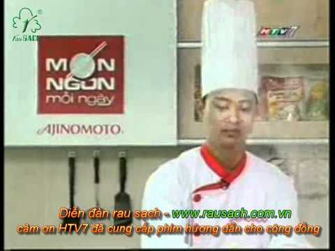 MON NGON MOI NGAY - BANH MI XIU MAI (CU SAN, CA CHUA, DUA LEO )