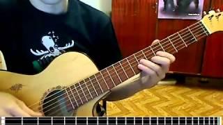 Как играть Пираты карибского моря на гитаре, видеоурок