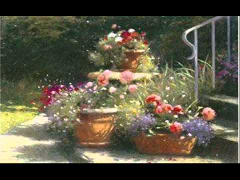 Art gallery oil painting black art flowers painting ...