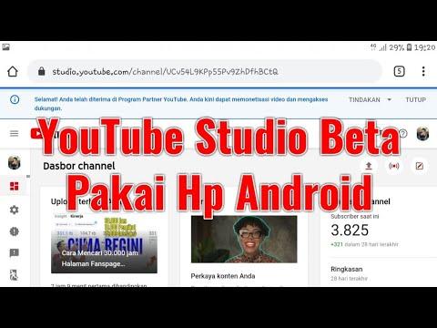 Cara Masuk YouTube Studio Beta Menggunakan Hp Android