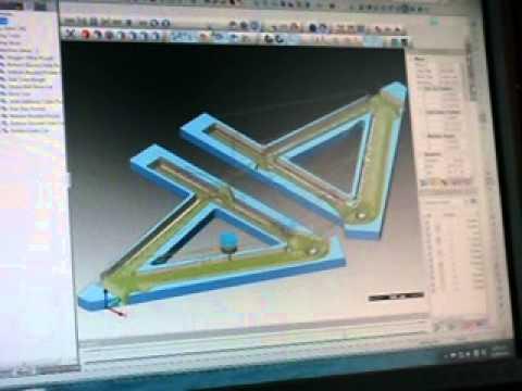 GEROS Wood Road-Bike: CNC routing inside of frame
