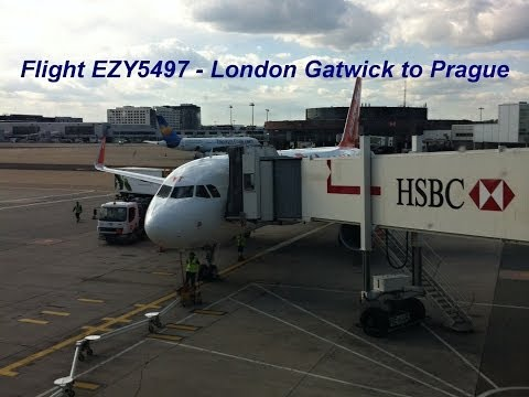 Flight easyJet - EZY5497 - London Gatwick to Prague