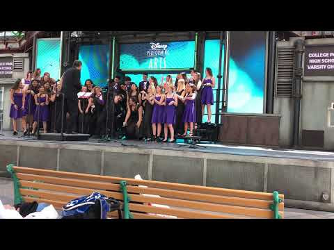 College Park Choir Disneyland 2018