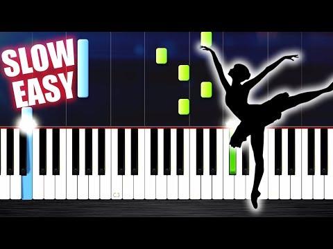 Tchaikovsky - Swan Lake Theme - SLOW EASY Piano Tutorial by PlutaX