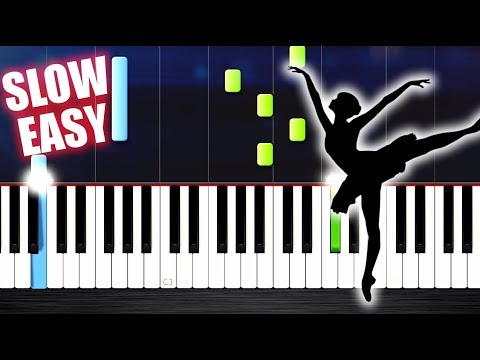 Tchaikovsky - Swan Lake Theme - SLOW EASY Piano Tutorial by PlutaX