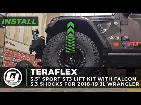 Jeep JL Wrangler Install: TeraFlex 3-12 inch Sport ST3 Suspension Lift Kit with Falcon 33 Shocks