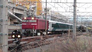 2020年4月7日 E257系電車 NA-03編成 転用改造のため再び秋田総合車両センターへ配給輸送 電気機関車EF81 140+E257系電車 NA-03編成(9両) JR高崎駅