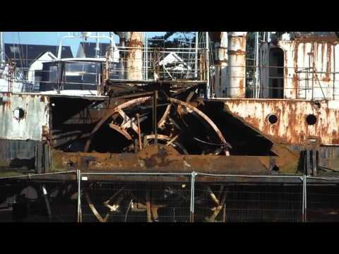 Paddle Steamer Wreck at Island Harbour Marina at the Isle of Wight