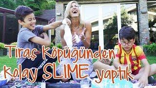 Çağla | Tıraş Köpüğü Slime - Uzay ve Kuzey Bana Yardım Etti | Anne & Çocuk Video