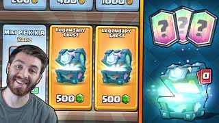NEW SHOP DOUBLE LEGENDARY CHEST OPENING!! | Clash Royale | OPENING x2 LEGENDARY CHEST!