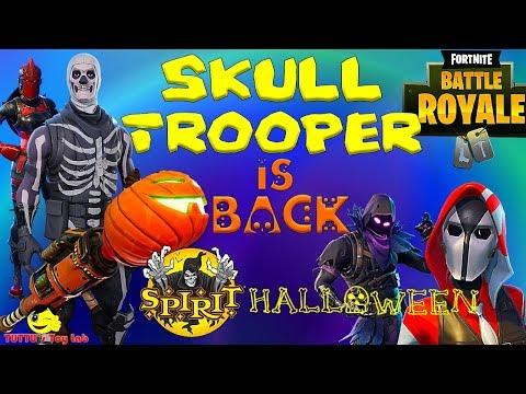 Skull Trooper Fortnite |Spirit Halloween  |Fortnite Costumes Store Hunt