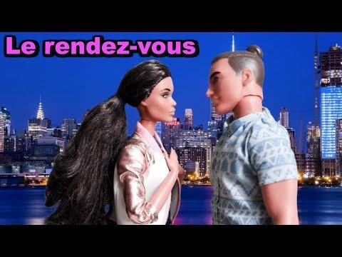 Cindy à Rendez-vous Avec Mickael  Barbie And  Ken Date , Bedroom Restaurant Doll Playset