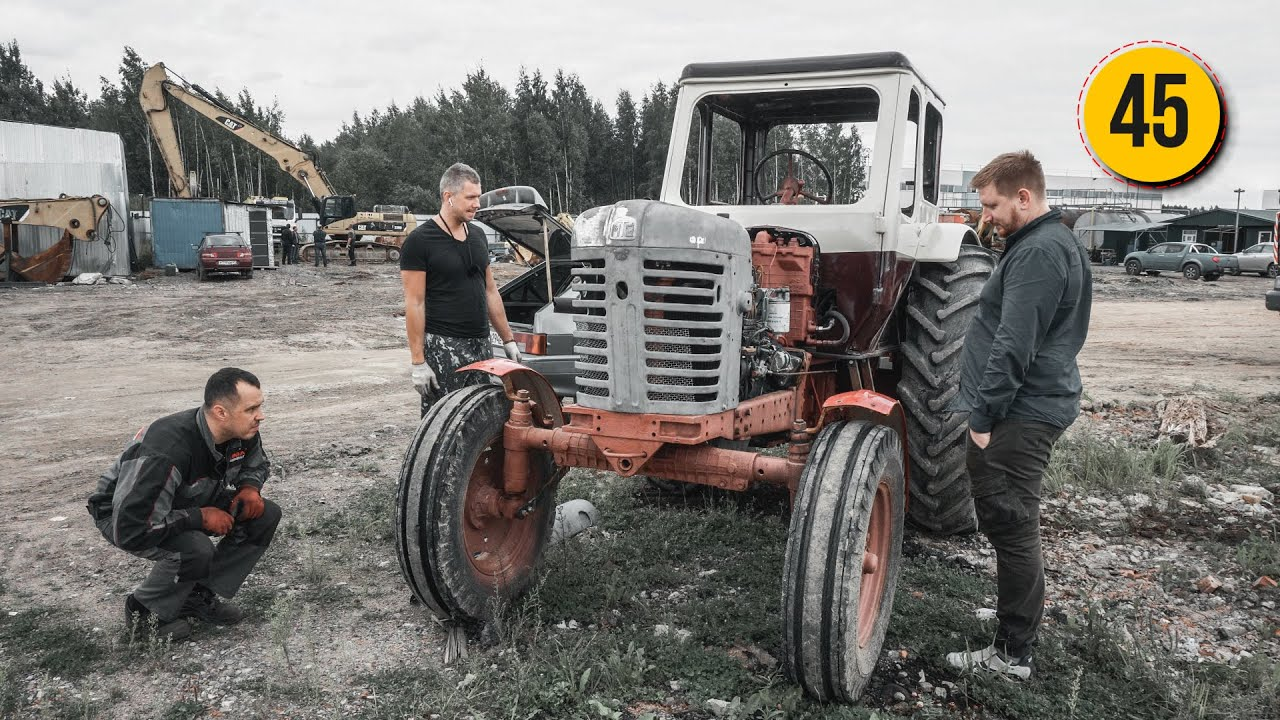 Примерка восстановленных деталей для трактора МТЗ-50 1969 года БАТЯ
