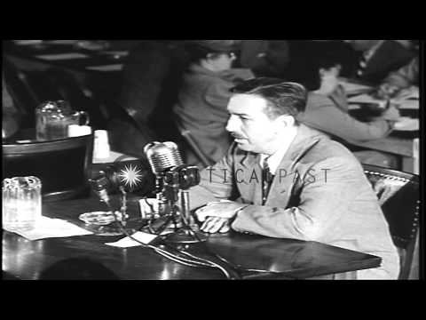 The testimony of Walt Disney Studios owner Walt Elias Disney before the House Com...HD Stock Footage
