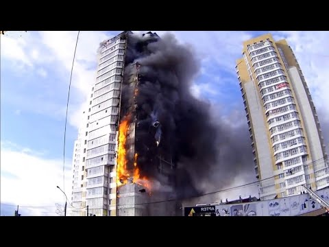 Fire In A 25-storey Residential Building In Krasnoyarsk City On Miners' Street, #40 (Sept. 21, 2014)