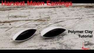 Harvest moon  earrings - Polymer Clay tutorial - Full Process