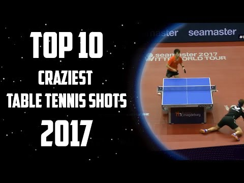Top 10 Craziest Table Tennis Shots of 2017!