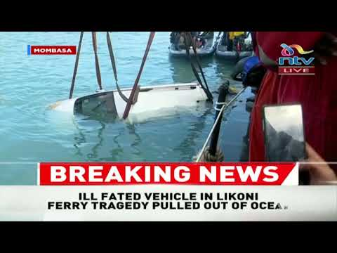 BREAKING: Car that plunged into ocean at Likoni pulled out
