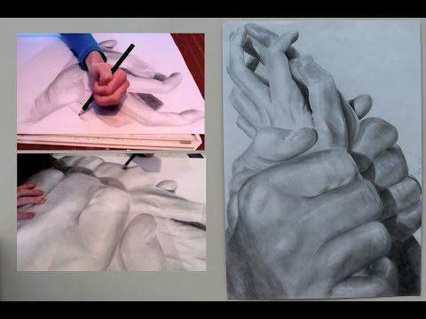 Drawing time lapse: Hands by Teenage Artist