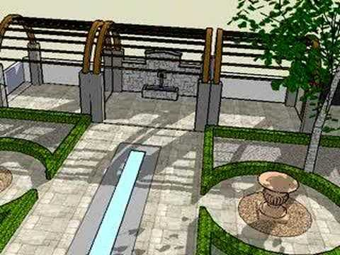 Garden design in 3D using Sketchup YouTube