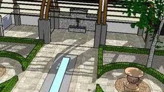 Garden design in 3D using Sketchup