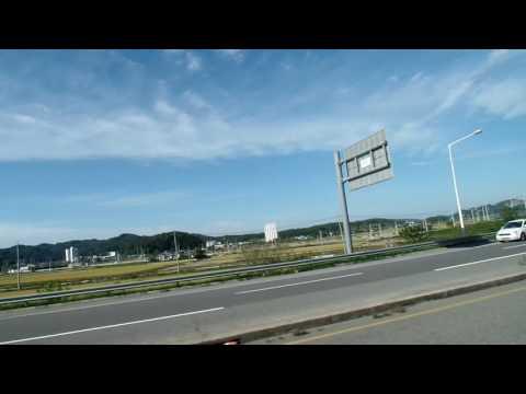 From Jeonju to Gunsan (Kunsan) by Express Bus .군산여행  . North Jeolla Prov.전라북도 全羅北道 . Jeonju . KOREA