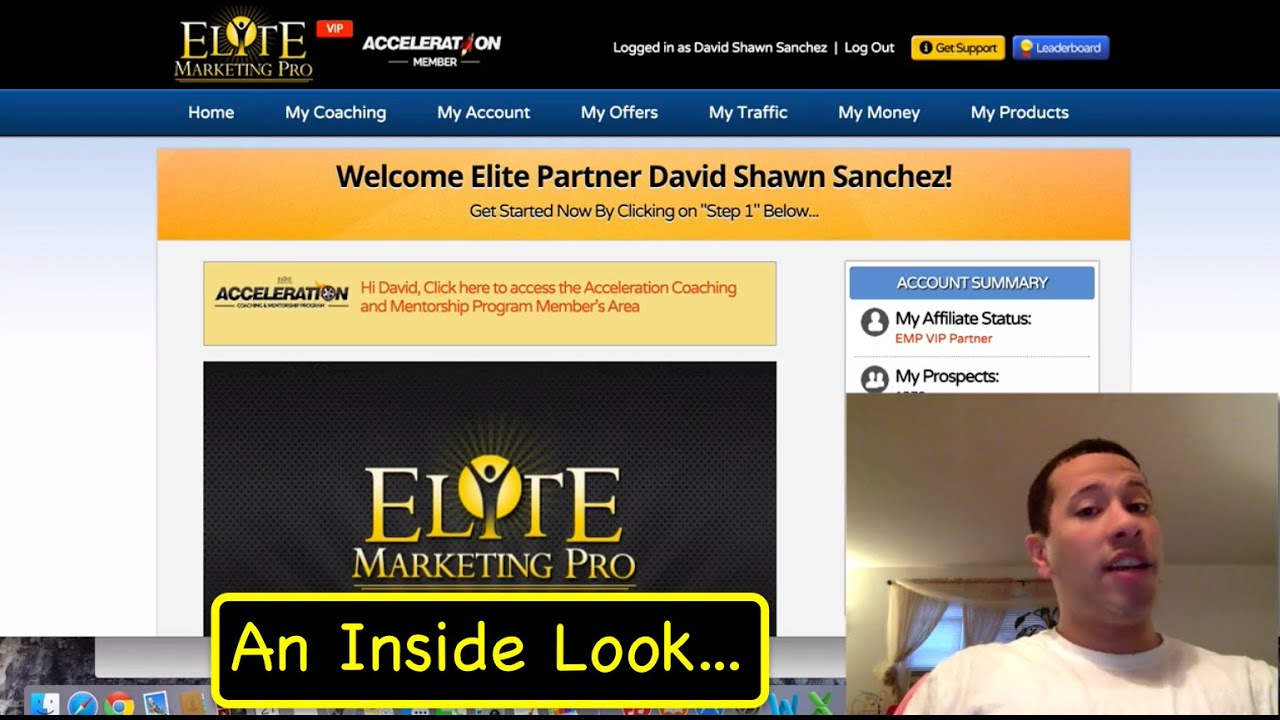 Elite Marketing Pro Review Back Office Orientation And