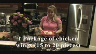 Thai Chicken Wings With A Creamy Basil Dipping Sauce.wmv