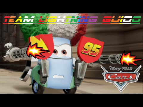 Cars 2 - Team Lightning Guido ( Friend From Lightning McQueen & Mater & Finn McMissile )