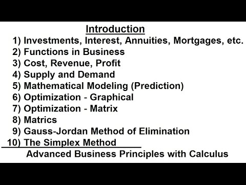 Business Math (1 of 1) Introduction - YouTube