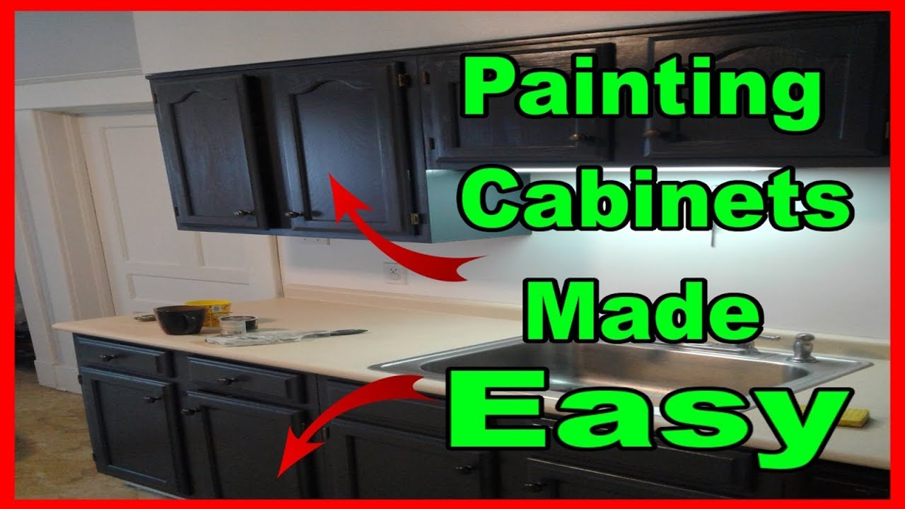 Painting Kitchen Cabinets For Beginners Brush And Roll Youtube
