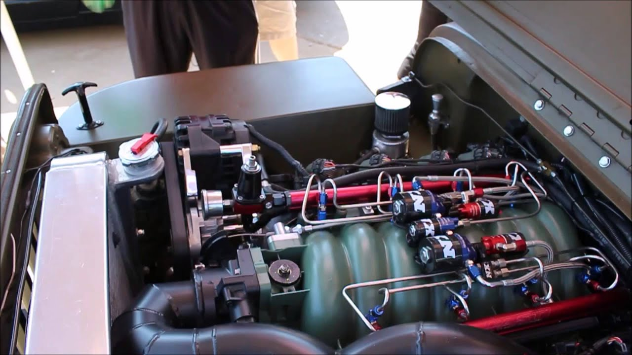 1952 4 8L 750hp Procharger & Nitrous Express powered LSx Willys