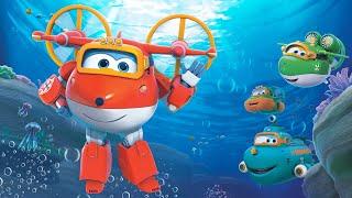 [Superwings s3 team episodes] Aqua Team | submarine | Boat | Ship