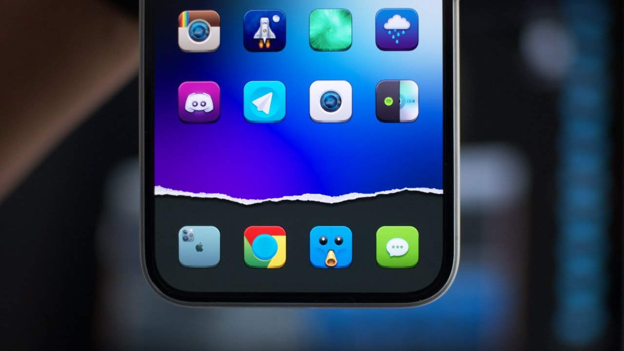 Paper Tear Invisible Dock Shortcut Mod   Any Wallpaper iOS 21