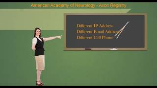 Axon Registry Two Factor Authentication - American Academy of Neurology