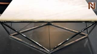 Nuevo Jasmine Coffee Table Marble Polished Stainless Steel Hgtb174