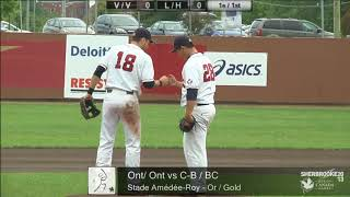 2013 Canada Summer Games - Men's Baseball - Ontario vs British Columbia