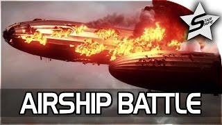 Battlefield 1 Single Player Campaign Gameplay - Friends in High Places - HUGE AIRSHIP BATTLE! (2/2)