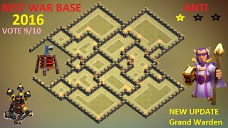 Th9 Best War Base [ ANTI 2 STARS ] ANTI Gowipe , Hog ANTI Lava + Balloon 2016 - Clash of Clans