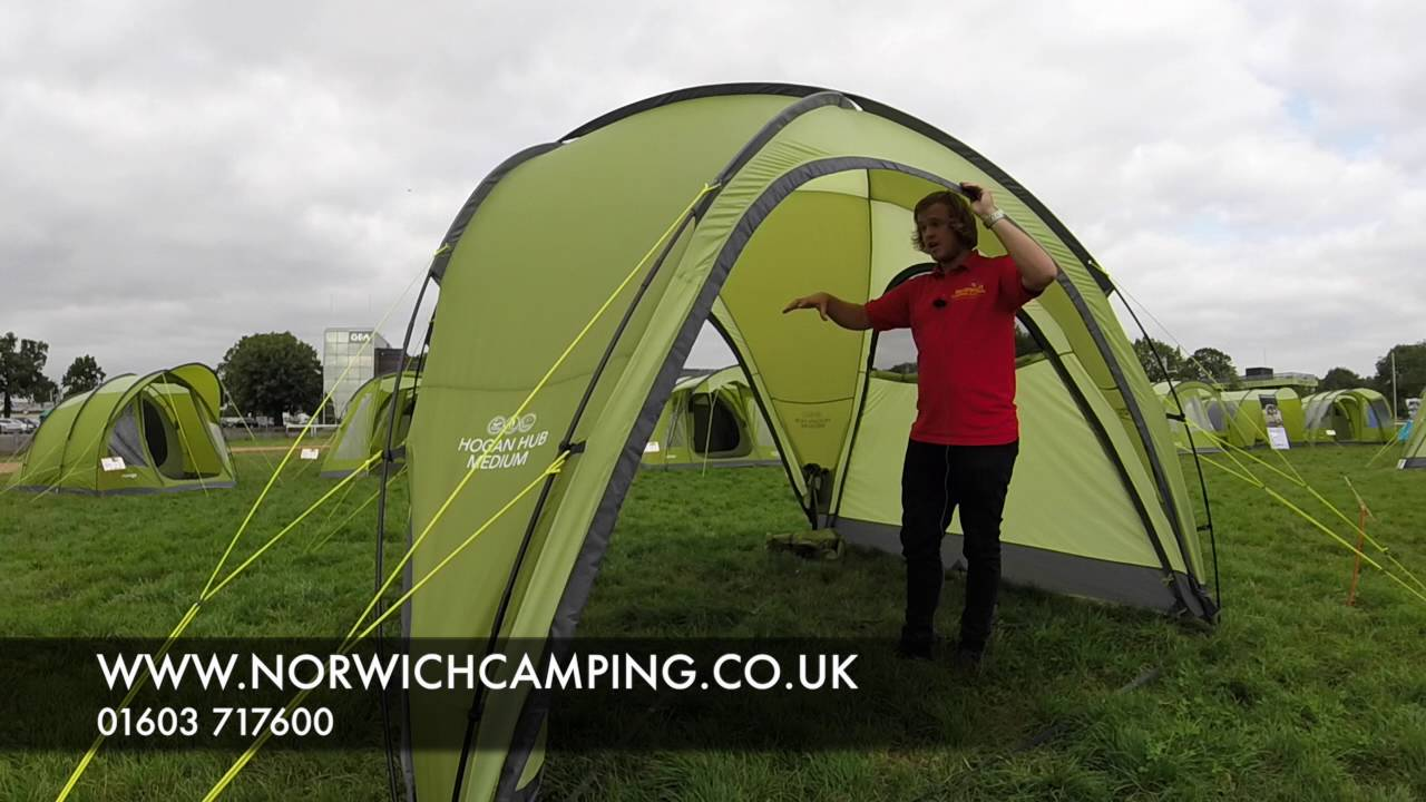 Vango Hogan Hub Shelter Tent & Vango Hogan Hub Shelter Tent - YouTube