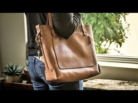 IT'S FINISHED!! Making a Leather Tote Bag with FREE PATTERN (Pt. 2)