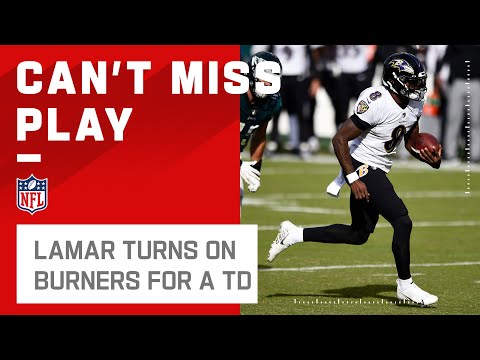 Lamar Shows Off His 40-Yd Dash on TD Run