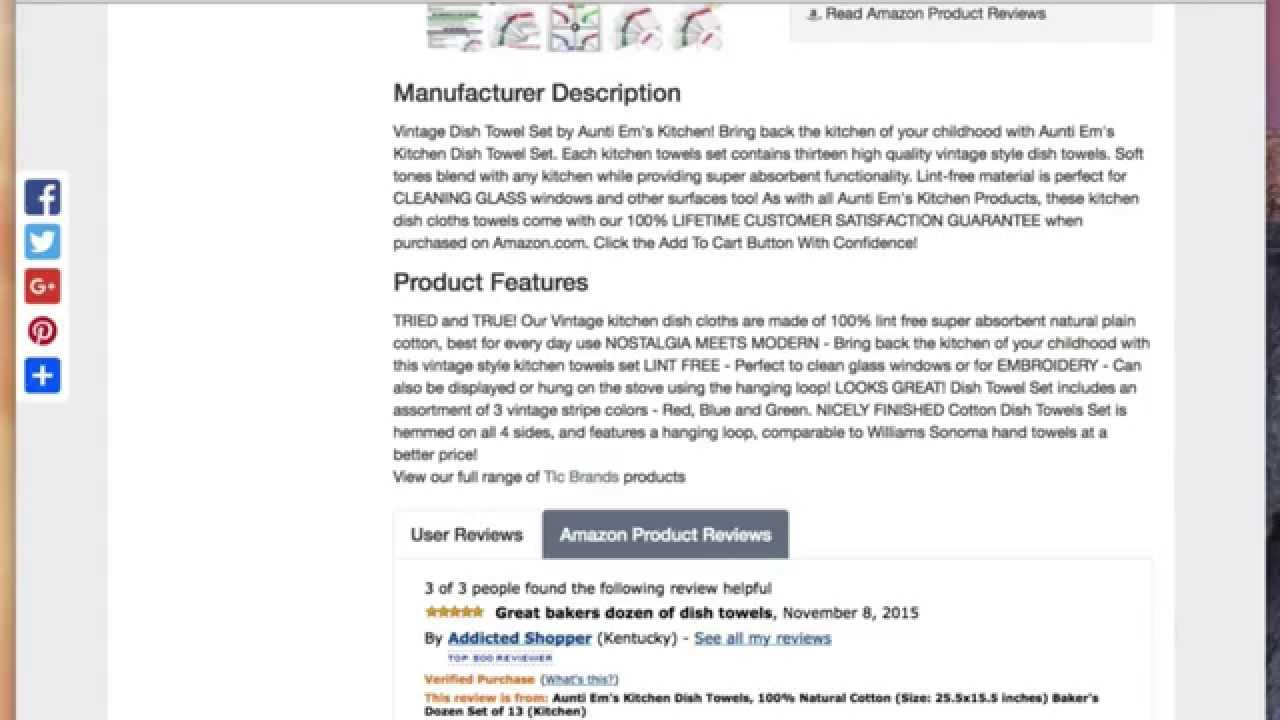 Kitchen Dish Towels Vintage Design Super Absorbent 100 Natural Cotton 13 Pack Towel Set You