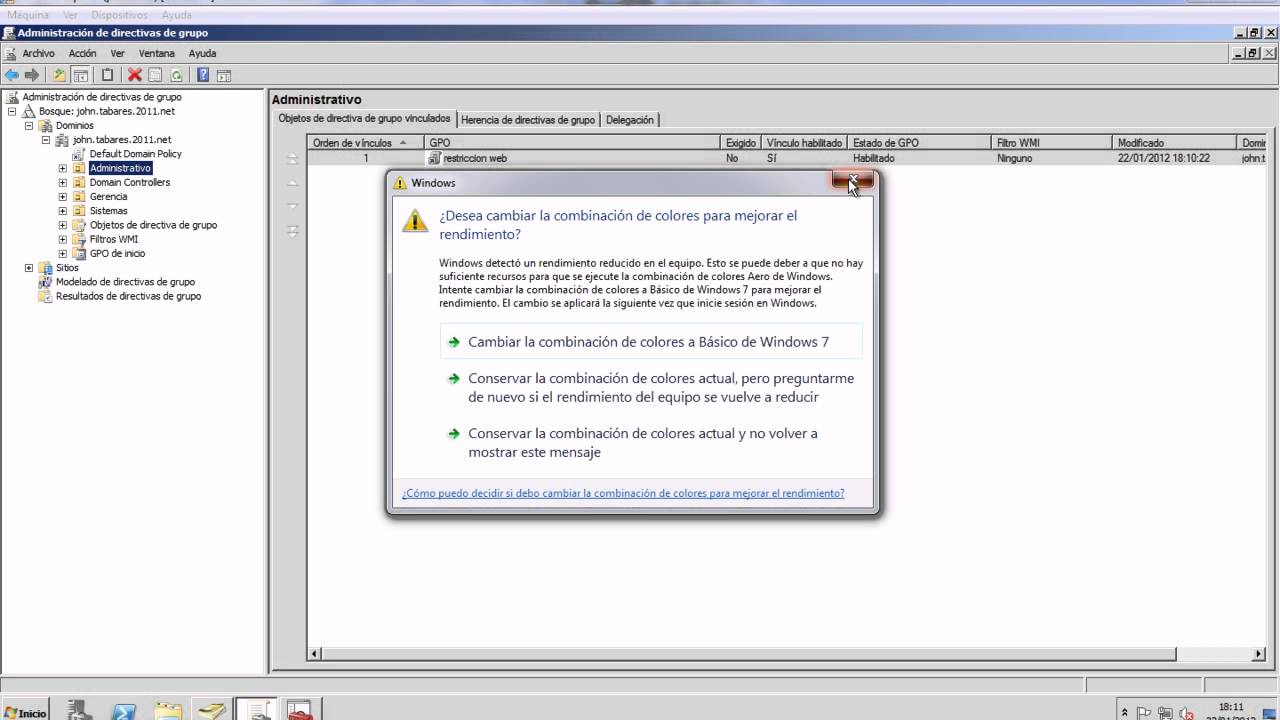 Active Directory Restriccion web - YouTube
