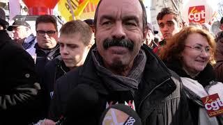 Gilets jaunes et CGT manifestent ensemble / Quelques tensions (5 février 2019, Paris) [4K]