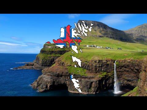 Flag Map Speedart - The Faroe Islands
